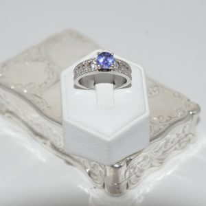 18ct White Gold Tanzanite Solitaire