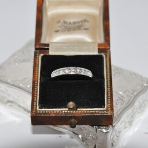 18ct White Gold Round Brilliant Cut Half Eternity Band