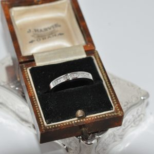 18ct White Gold Modern Diamond Channel Set Ring